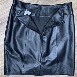 H&M Black Leather Mini Skirt